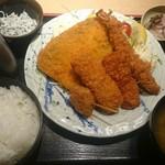 築地食堂 源ちゃん - 源ちゃん 魚河岸フライ定食