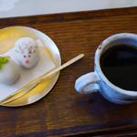 銀座 風月堂 - 和菓子セット コーヒー