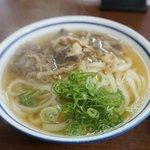 手延べうどん 黒田藩 - 料理写真:肉うどん 430円。