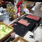 roan - ディナーのメイン、国産豚のしゃぶしゃぶ。