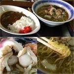 浜っこラーメン けんたろう - 平成28年10月 海鮮ラーメン定食(海鮮ラーメン小+ホッキカレー)1,150円