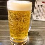 らぁめん ふじ家 - 生ビール