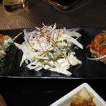 炭火焼鳥串道 - 前菜三種盛り