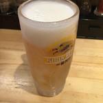 ふく流らーめん 轍 総本家 - 生ビール〜(^_、-)/一杯目¥250円