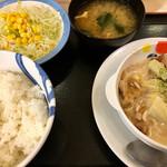 松屋 - クリームシチュー定食(630円)