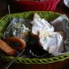 銀山ベース - 料理写真:小倉トーストサラダオニオンリングドリンクセット