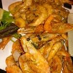 Shrimp Dining EBIZO kashiwa - 甘エビと芝エビの唐揚げ。