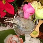 Shrimp Dining EBIZO kashiwa - 刺身三点盛り。