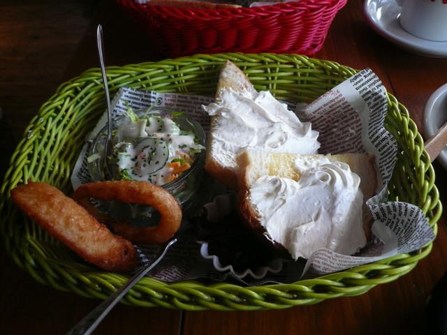 銀山ベース - 小倉トーストサラダオニオンリングドリンクセット