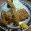 桐半 - 料理写真:三味定食 カツ、海老、イカ(イカは2コ)を選択