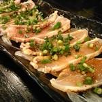 君津北口の串屋横丁 - 鶏刺しポン酢