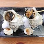 海辺 - サザエのつぼ焼き(単品)昼メニュー