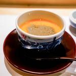 はらまさ - 蟹味噌と黄身の茶碗蒸し