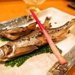 鮨処 竜敏 - 生 本シシャモ塩焼き(2016年11月)
