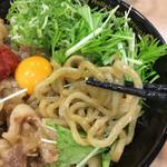 二代目晴レル屋 - 麺は美味しい 味付けかなり甘い