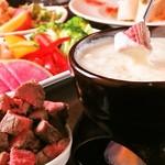 黒猫cafe - お肉も野菜も食べ放題☆ミートフォンデュ