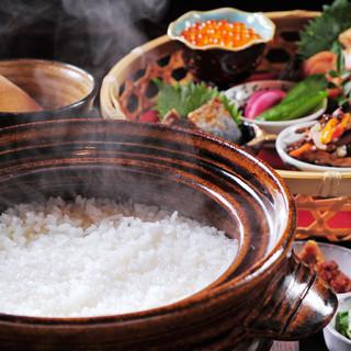 土鍋で炊き上げる特A佐渡コシヒカリ
