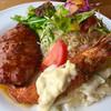 ウト・ウーク - 料理写真:ハンバーグ&海老フライのAセット  ハンバーグフワトロですよ〜♪