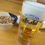 七福食堂 - 生ビールの注ぎ方が良いです