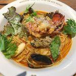 BARBARA EXPO RESTAURANT - オマール海老と広島産牡蠣のブイヤベース風パスタ ルイユ添え