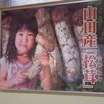 5996155 - 畏友の視線を奪ったインパクトのある松茸のポスター