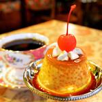 カフェトキオナ - 大人気の自家製プリンがランチタイムのデザートセットにできます⭐︎