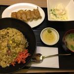 ふうり - 高菜チャーハンと餃子の定食 大盛り