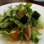 pizzeria felice - 「大野でとれた畑野菜のサラダ~玉ねぎたっぷりのあっさりドレッシングで~」のアップ