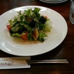 pizzeria felice - 「大野でとれた畑野菜のサラダ~玉ねぎたっぷりのあっさりドレッシングで~」
