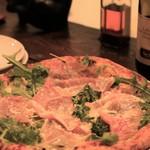 ラ フィーリア デル プレジデンテ - ルッコラと生ハムのピザ 水牛のチーズに替えてもらいました