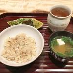 日本料理 翠 - せこ蟹ご飯、味噌汁、香の物
