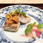 日本料理 翠 - 白甘鯛 塩水うに 大根なます