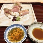 日本料理 翠 - お造りは麹醤油と酒盗醤油で