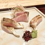 日本料理 翠 - お造り(かます、寒ぶり、のどぐろ)