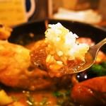 Soup Curry SAMURAI. - 侍スペシャル(ライスをスープに浸して食べる)