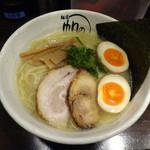麺屋 帆のる - 鶏白湯麺(大盛り)+味付玉子