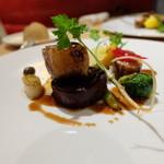 ル・レガル・トワ - 紫芋や芽キャベツなどの野菜もおいしい