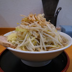 麺屋 多華味 - らーめん、麺特盛、野菜、にんにく(2016年11月27日)