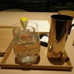 茶洒 金田中 - 大関レモン冷酒