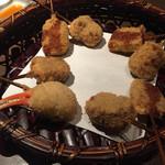 串揚げ 串亭 - 牛ごぼうとフォアグラ大根、そしてカニの爪