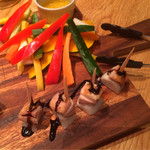 GOODMORNINGCAFE - バーニャカウダと里芋と鶏肉のピンチョス