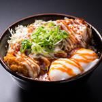 かつ丼吉兵衛 - 韓辛味噌マヨかつ丼並盛玉子2個