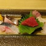 太郎源 - 16/12/10 刺身盛り。 9種類もあって豪勢!