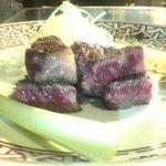 横浜うかい亭 - サーロインステーキ。もう少し食べたかった!