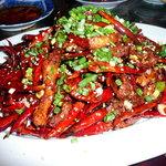 知音食堂 - 料理写真:歌楽山唐辛子と山椒の鶏肉炒め(激辛)