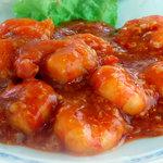 中華四川料理 もりた - 自慢のチリソースを使ったえびのチリソース炒めです
