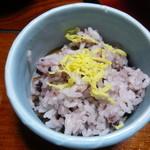 健康の里 杖立温泉 葉隠館 - 赤米ご飯