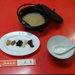 れいめい - 紀州名物 茶粥の朝食も出来ます。