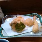 すし半 - プレミアムランチの天ぷら