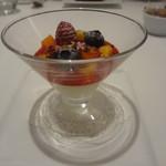 レストラン シャルム - 本日のデザート:ゆす風味のレアチーズケーキ